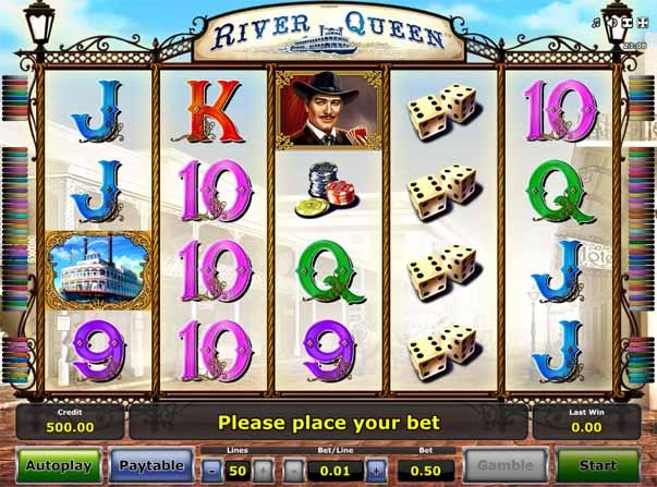 River Queen Slot Game Reels