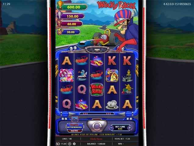 Wacky Races Slot Game Reels
