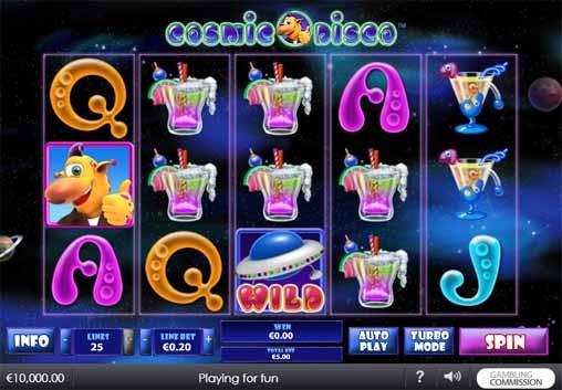 Cosmic Disco Slot Game Reels