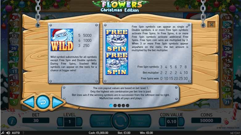 Flowers Christmas Edition Slot Bonus