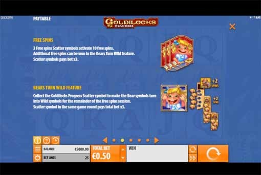 Goldilocks and the Wild Bears Slot Bonus