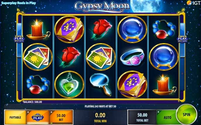 Gypsy Moon Slot Game Reels