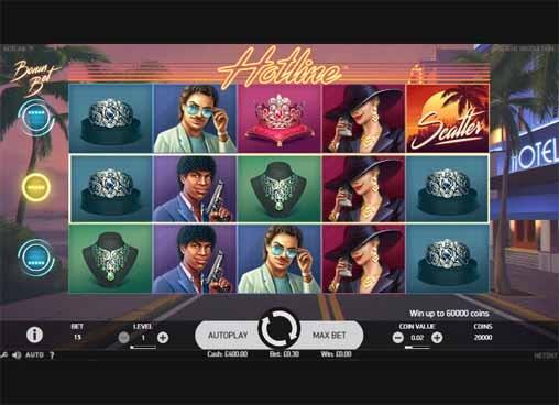 Hotline Slot Game Reels