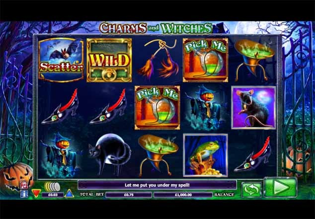 Charms and Witches Slot Game Reels