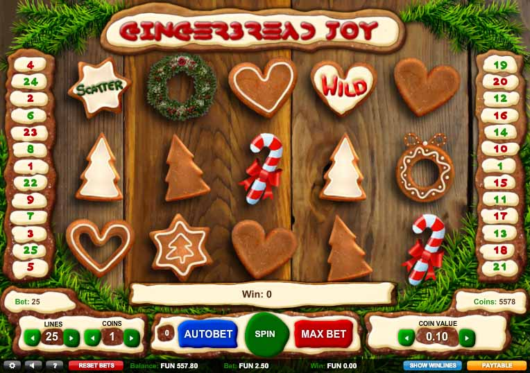 Gingerbread Joy Slot Game Reels