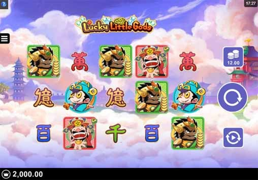 Lucky Little Gods Slot Game Reels