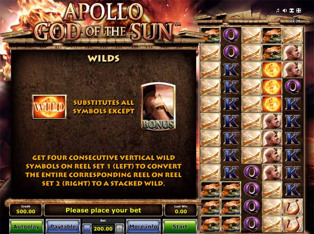 Apollo God of the Sun Slot Bonus