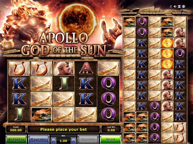 Apollo God of the Sun Slot Game Reels