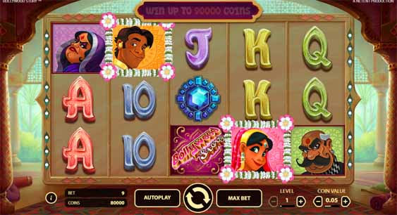 Bollywood Story Slot Game Reels