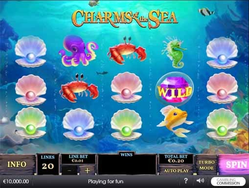 Charms of the Sea Slot Game Reels