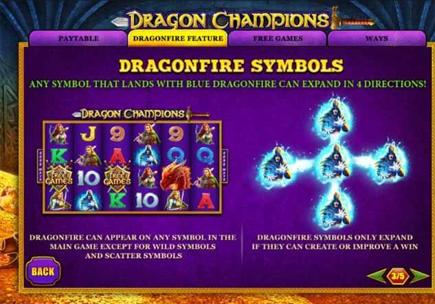 Dragon Champions Slot Bonus