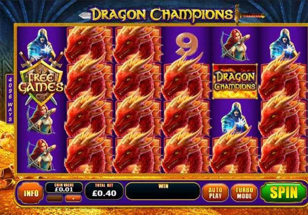 Dragon Champions Slot Game Reels