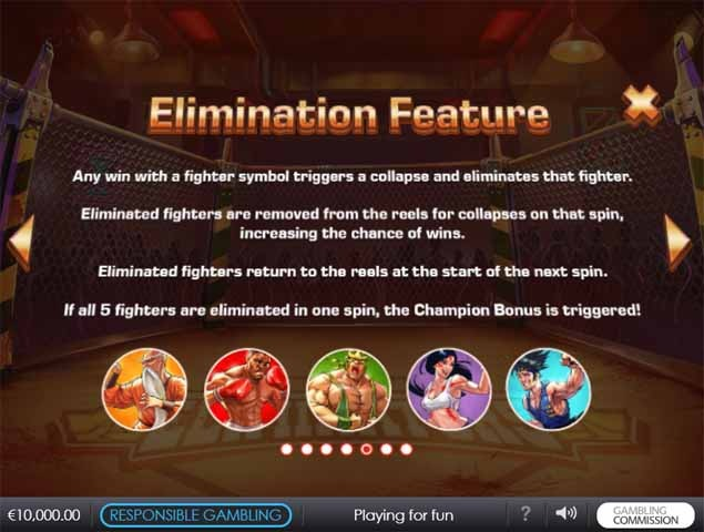 Eliminators Slot Bonus
