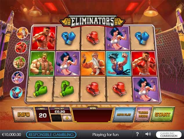 Eliminators Slot Game Reels