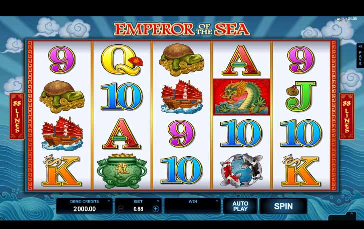 Emperor of the Sea Slot Game Reels