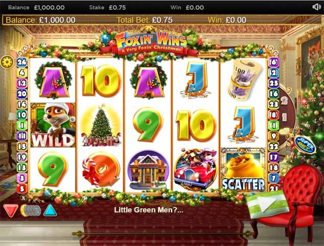 Foxin' Wins A Very Foxin' Christmas Slot Game Reels