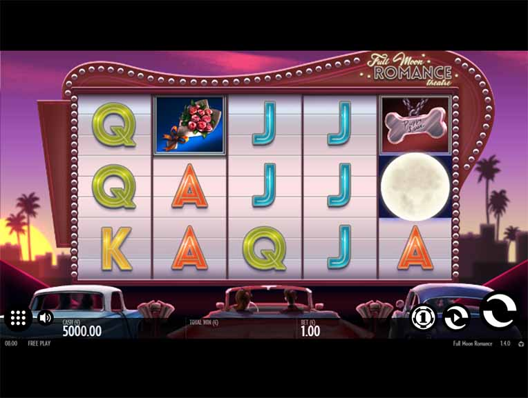 Full Moon Romance Slot Game Reels