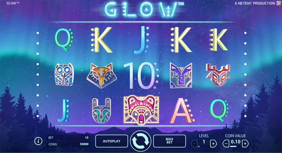 Glow Slot Game Reels
