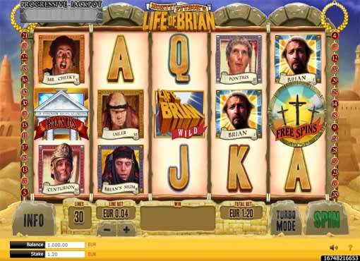 Monty Python's Life of Brian Slot Game Reels