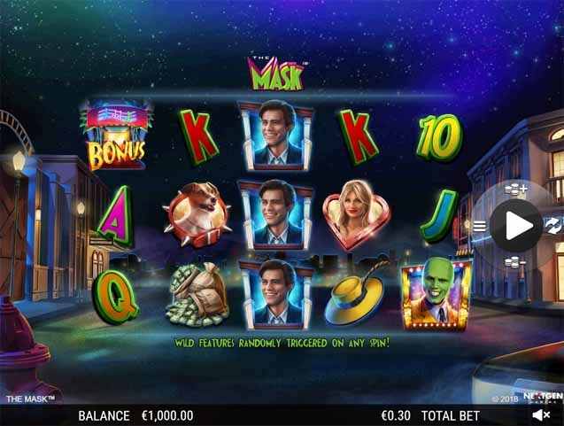 The Mask Slot Game Reels