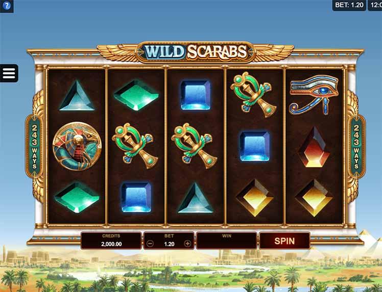 Wild Scarabs Slot Game Reels