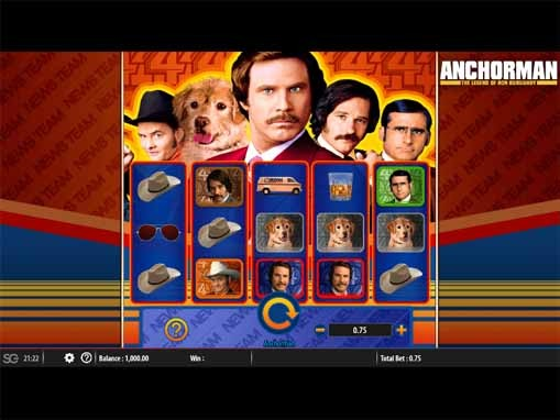Anchorman: The Legend of Ron Burgundy Slot Game Reels