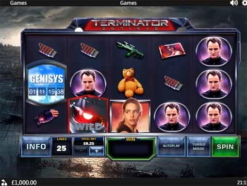 Terminator Genisys Slot Game Reels