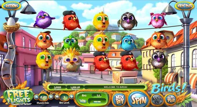 Birds Slot Game Reels