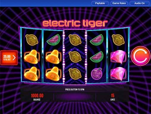 Electric Tiger Slot Game Reels