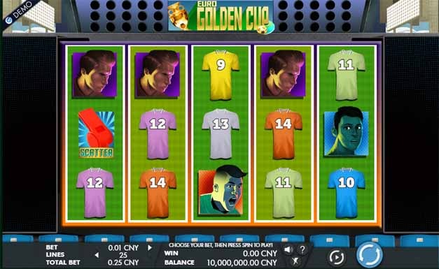 Euro Golden Cup Slot Game Reels