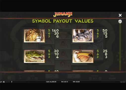 Jumanji Slot Bonus