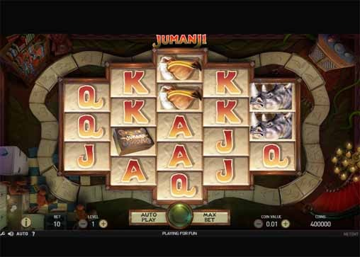Jumanji Slot Game Reels