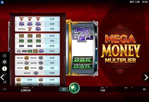 Mega Money Multiplier Slot Bonus