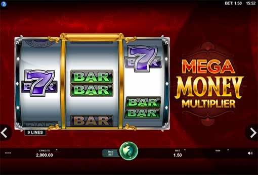 Mega Money Multiplier Slot Game Reels