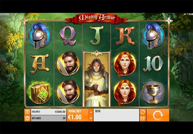 Mighty Arthur Slot Game Reels