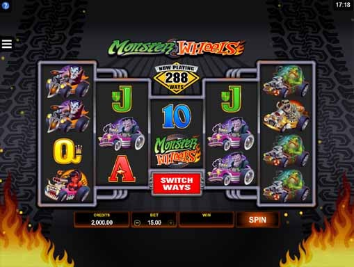 Monster Wheels Slot Game Reels