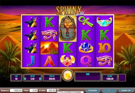 Sphinx Wild Slot Game Reels