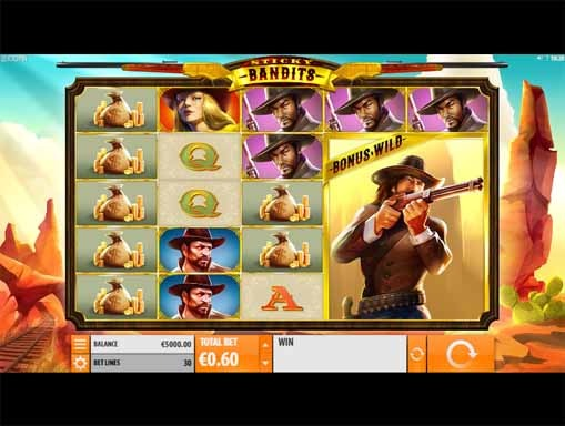 Sticky Bandits Slot Game Reels