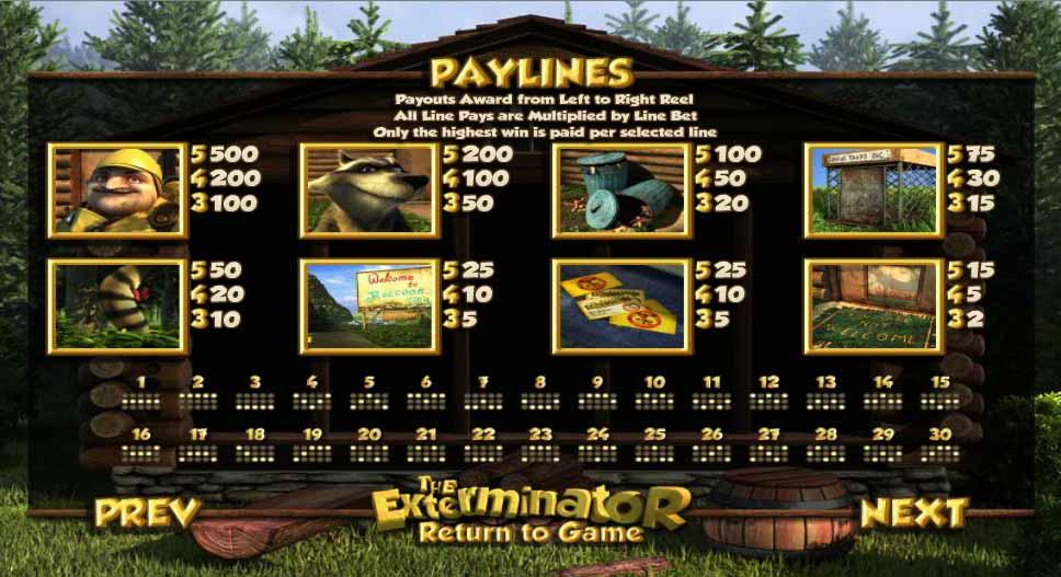 The Exterminator Slot Bonus