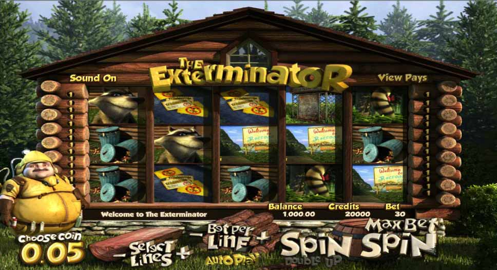 The Exterminator Slot Game Reels