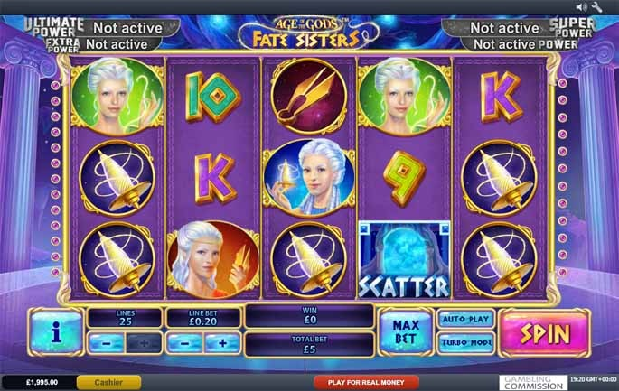 Age of the Gods: Fate Sisters Slot Game Reels
