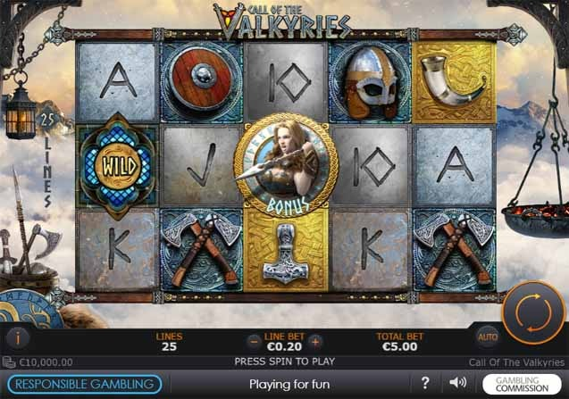 Call of the Valkyries Slot Game Reels