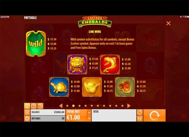 Eastern Emeralds Slot Bonus