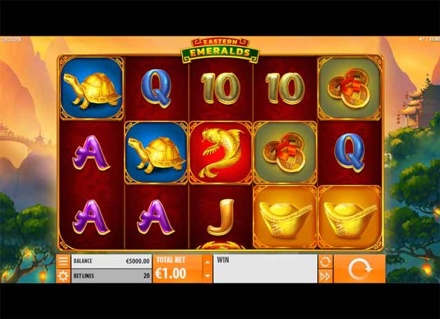 Eastern Emeralds Slot Game Reels