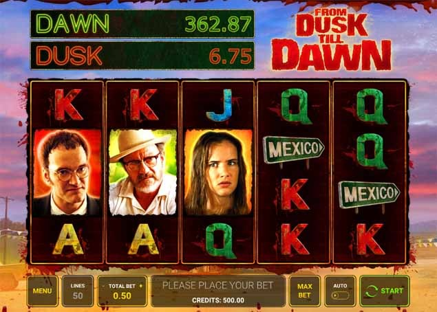 From Dusk Till Dawn Slot Game Reels