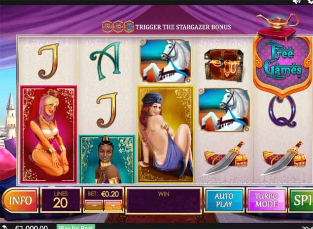 Treasures of the Lamps Slot Game Reels
