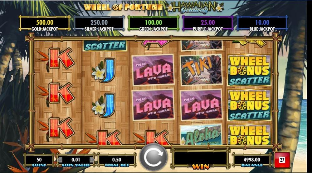 Wheel of Fortune: Hawaiian Getaway Slot Bonus