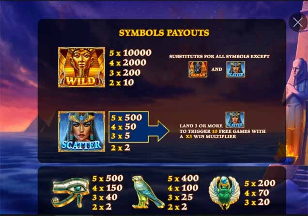 Age of Egypt Slot Bonus