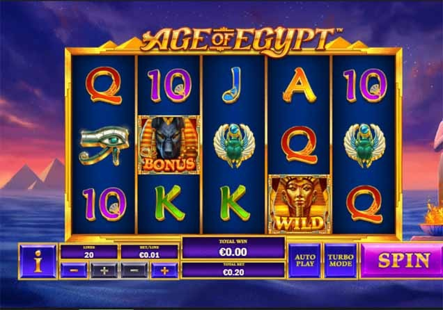 Age of Egypt Slot Game Reels