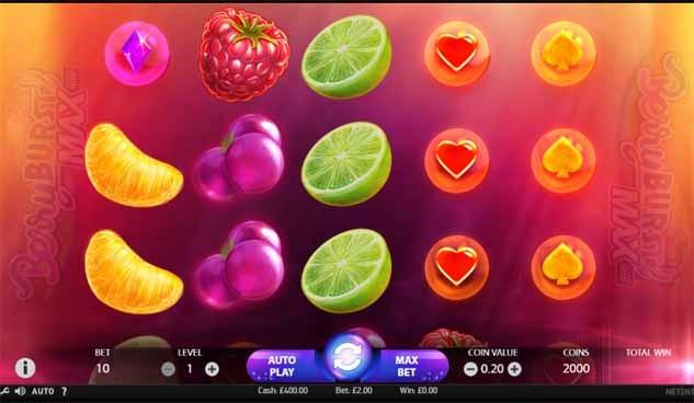 Berryburst MAX Slot Game Reels
